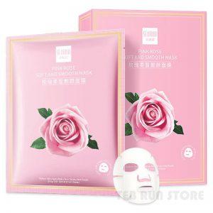 ماسک ورقهای صورت گل رز صورتی SENANA طب ران استور