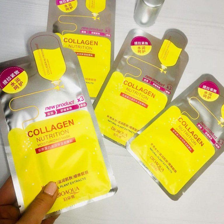 ماسک نقابی مرطوب کننده کلاژن BIOAQUA X3
